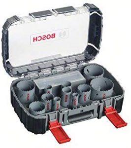 Bosch 2608580888 Coffret de 17 Scies-trépan bimétal HSS universal 20/ 22/ 25/ 32/ 35/ 40/ 44/ 51/ 60/ 68/ 76 mm